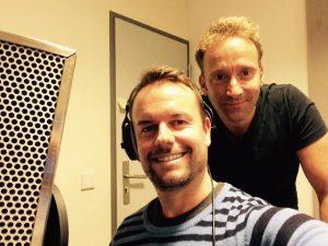 Lee und sein Produzent Paul Glaser im Studio